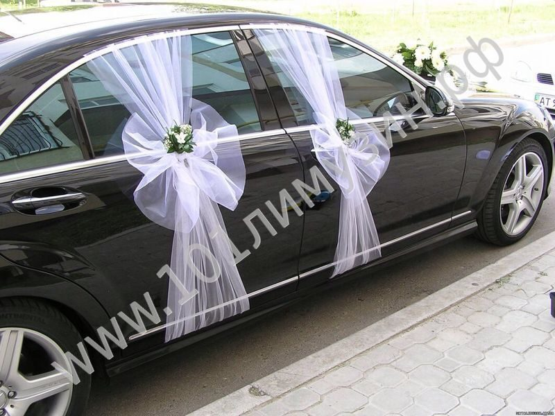 аренда и прокат свадебных украшений на автомобиль в Красноярске, украшение авто на свадьбу
